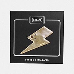 LIGHTNING BOLT SHOE PATCH - GOLD - COACH 42597