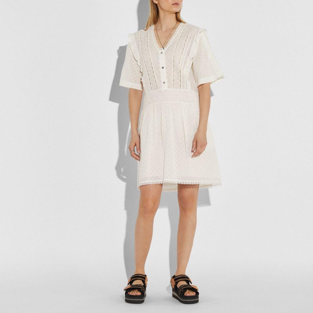 브로드리 앙글레즈 미니 드레스
