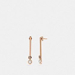DEMI-FINE SUNBURST BAR EARRINGS - GREY/ROSE GOLD - COACH 43026