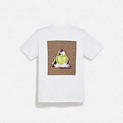 SIGNATURE BIG APPLE CAMP T-SHIRT - WHITE - COACH 4393