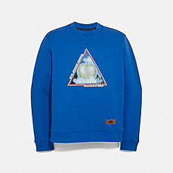 BIG APPLE CAMP SWEATSHIRT - BRIGHT BLUE - COACH 4394