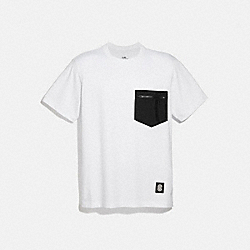 ESSENTIAL T-SHIRT - WHITE BLACK - COACH 4402
