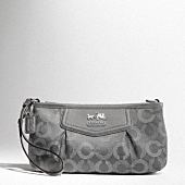 Madison Dotted Op Art Large Wristlet $98.00