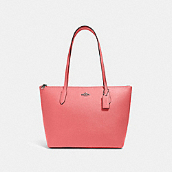ZIP TOP TOTE - QB/PINK LEMONADE - COACH 4454