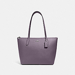 ZIP TOP TOTE - SV/VINTAGE PURPLE - COACH 4454