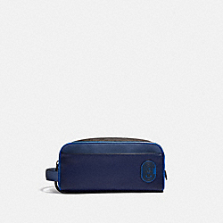 TRAVEL KIT IN BLOCKED SIGNATURE CANVAS - CHARCOAL/DEEP SKY - COACH 4457