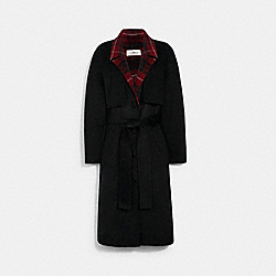 LUXURY WOOL TRENCH - BLACK - COACH 4574