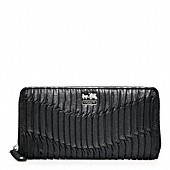 MADISON GATHERED LEATHER ACCORDION ZIP