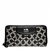 MADISON OP ART SATEEN ACCORDION ZIP