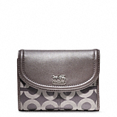 MADISON OP ART SATEEN MEDIUM WALLET