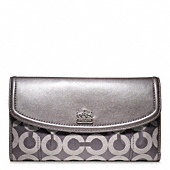 MADISON OP ART SATEEN CHECKBOOK WALLET
