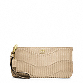MADISON GATHERED LEATHER ZIP CLUTCH