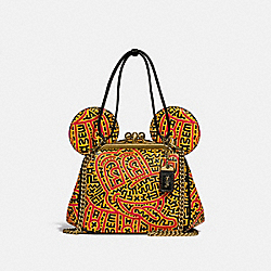 DISNEY MICKEY MOUSE X KEITH HARING KISSLOCK BAG - B4/BLACK MULTI - COACH 4718