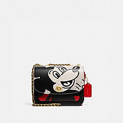 DISNEY MICKEY MOUSE X KEITH HARING MADISON SHOULDER BAG 19 - B4/ELECTRIC RED MULTI - COACH 4722