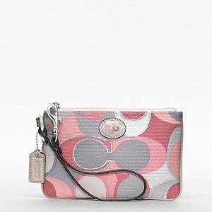 coach pink and gray purse aujs  pink grey coach purse