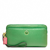 POPPY LEATHER DOUBLE ZIP WALLET