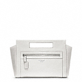 LEGACY LEATHER BASKET CLUTCH
