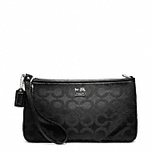 Madison Op Art Sateen Large Wristlet