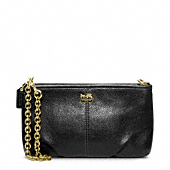 Madison Leather Large Wristlet With Chain
