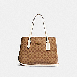 AVENUE CARRYALL IN SIGNATURE CANVAS - IM/KHAKI/CHALK - COACH 48735