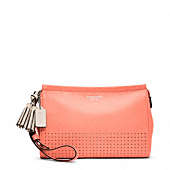 Legacy Perforated Leather Large Wristlet