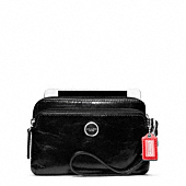 POPPY LEATHER DOUBLE ZIP WRISTLET