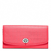 LEGACY PERFORATED LEATHER SLIM ENVELOPE