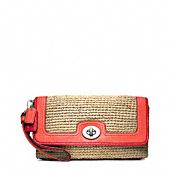 STRAW LARGE FLAP CLUTCH