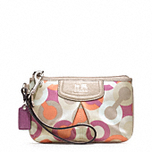 Madison Diagonal Op Art Small Wristlet