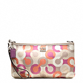 Madison Diagonal Op Art Large Wristlet