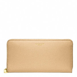 SAFFIANO LEATHER ACCORDION ZIP