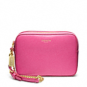 Saffiano Leather Flight Wristlet