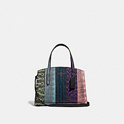 CHARLIE CARRYALL 28 IN OMBRE SNAKESKIN - GUNMETAL/MULTICOLOR - COACH 51334