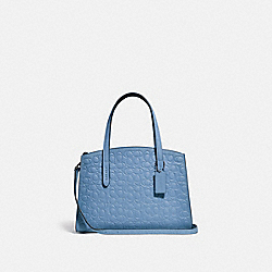 CHARLIE CARRYALL 28 IN SIGNATURE LEATHER - SLATE/SILVER - COACH 51665