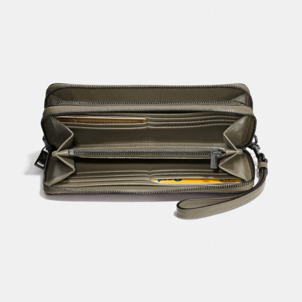 Double Accordion Zip Wallet in Smooth Leather - Alternate View L1