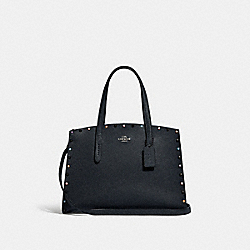 CHARLIE CARRYALL WITH RIVETS - GUNMETAL/MIDNIGHT NAVY - COACH 52244