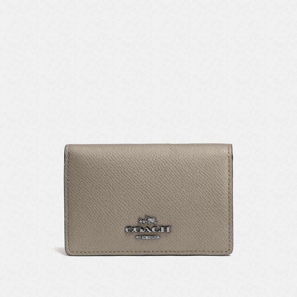 Coach Business Card Case in Crossgrain Leather