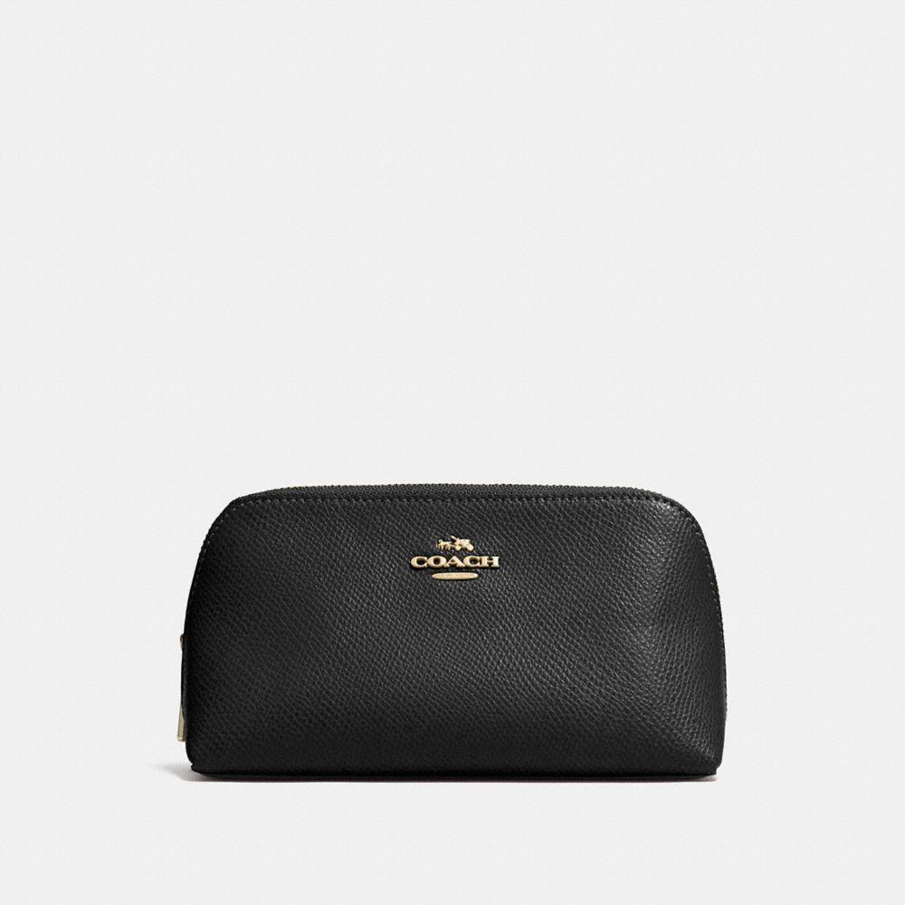 Coach Cosmetic Case 17 in Crossgrain Leather