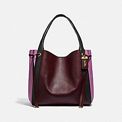 HARMONY HOBO IN COLORBLOCK - B4/CRANBERRY MULTI - COACH 53353