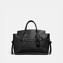 SHADOW CARRYALL - BLACK/PEWTER - COACH 53403