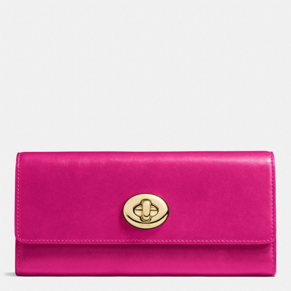 Coach Turnlock Slim Envelope Wallet in Smooth Leather