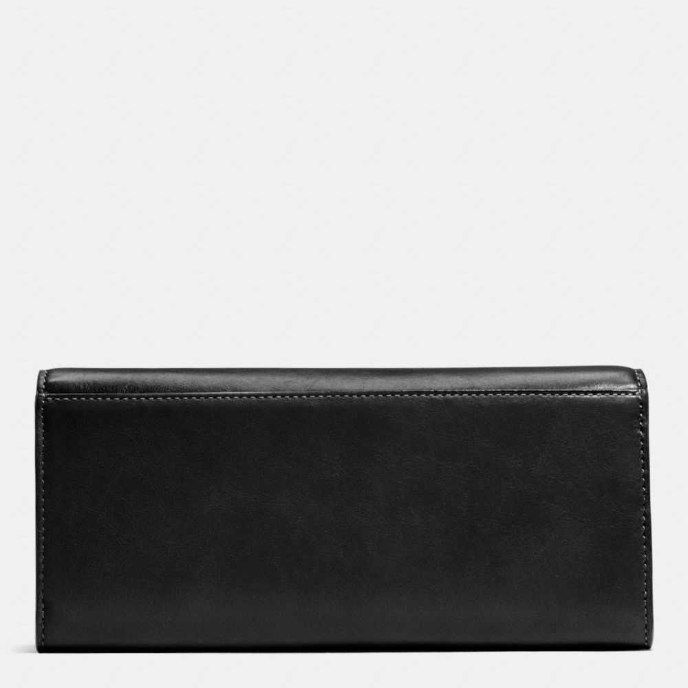 TURNLOCK SLIM ENVELOPE WALLET IN SMOOTH LEATHER - Alternate View A1