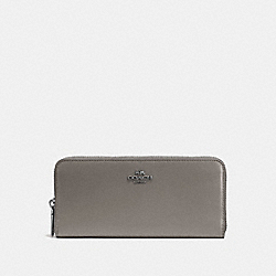 SLIM ACCORDION ZIP WALLET - DK/HEATHER GREY - COACH 53707