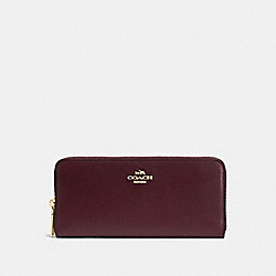SLIM ACCORDION ZIP WALLET - LI/OXBLOOD - COACH 53707