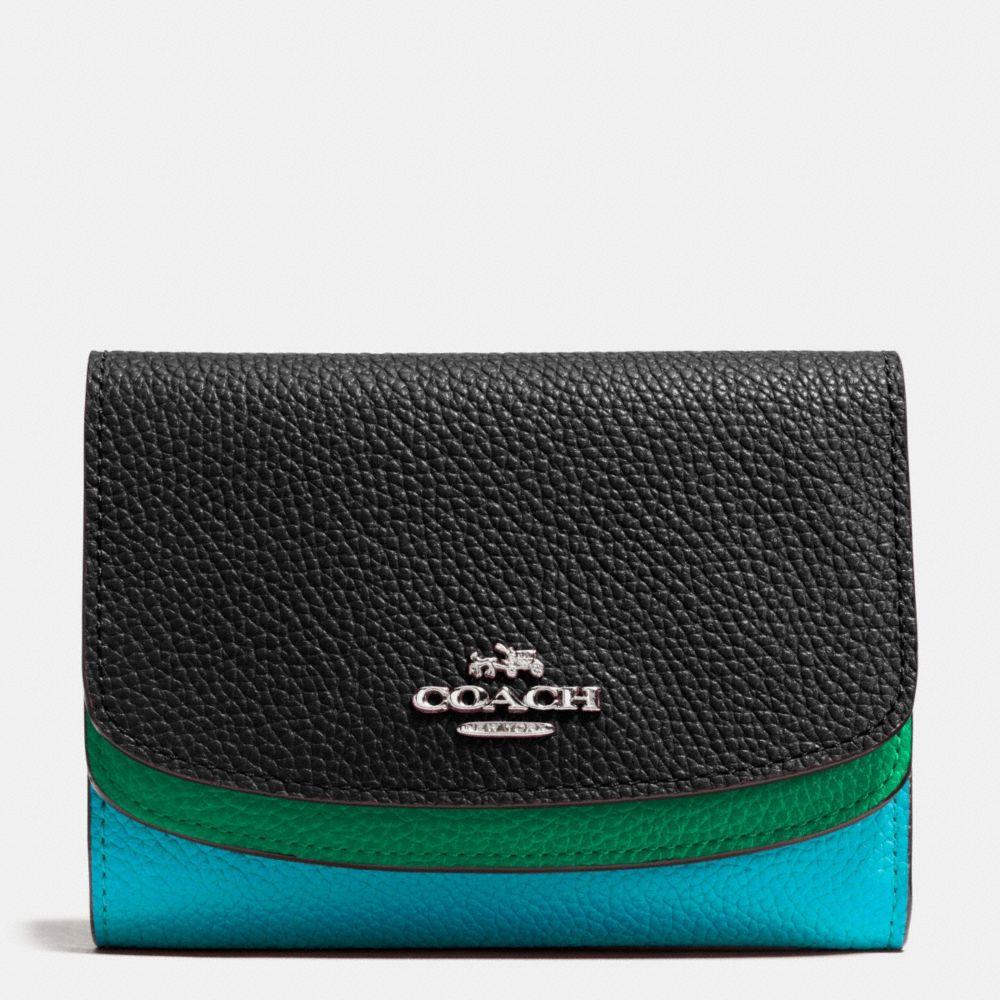Coach Medium Double Flap Wallet in Colorblock