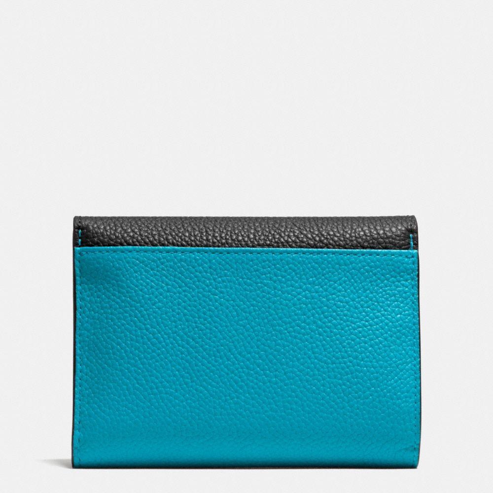 Coach Medium Double Flap Wallet in Colorblock Alternate View 1