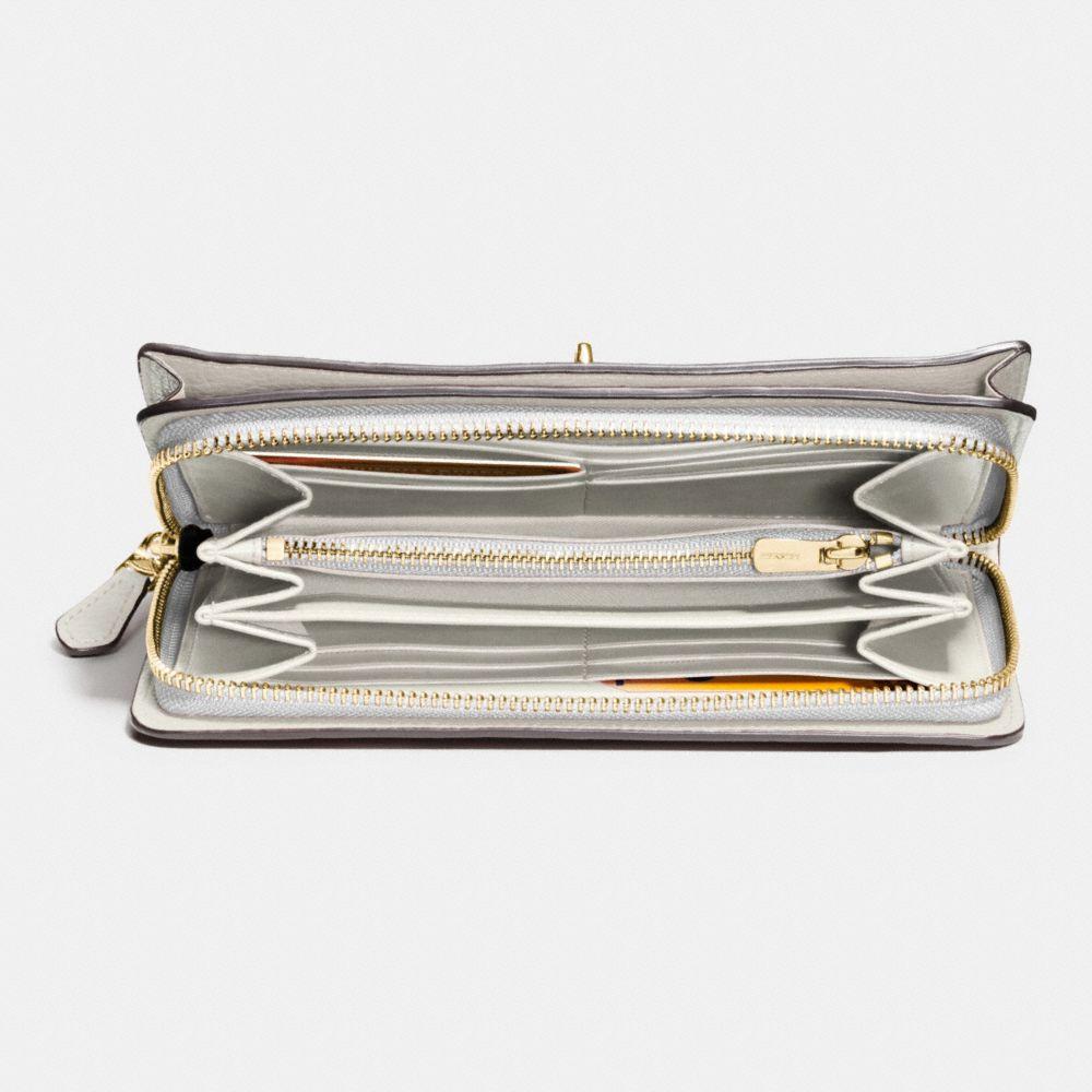 Mercer Accordion Zip Wallet in Grain Leather - Alternate View L1