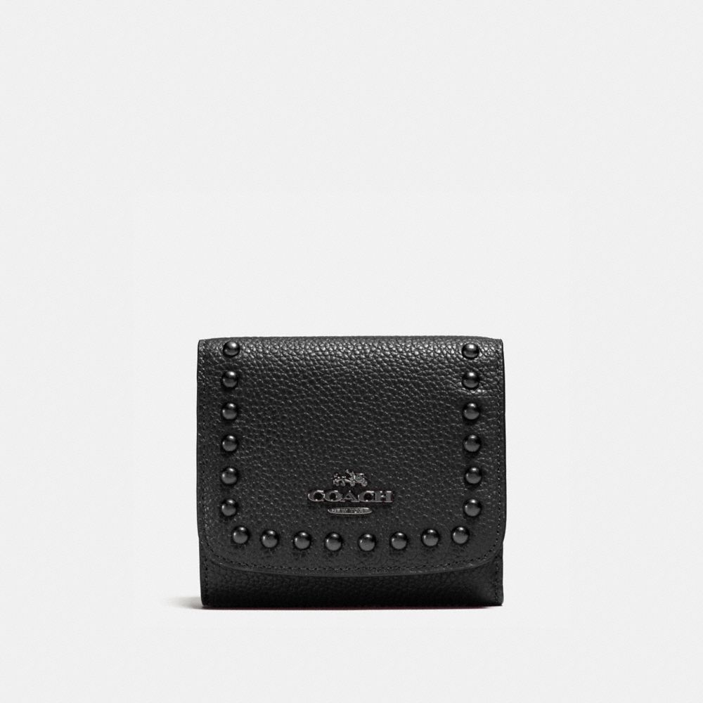 Coach Small Wallet With Lacquer Rivets