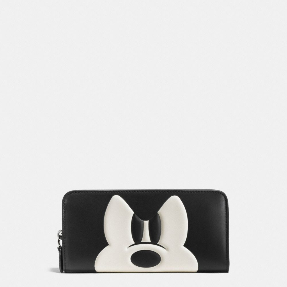 Mickey Accordion Zip Wallet in Glovetanned Leather