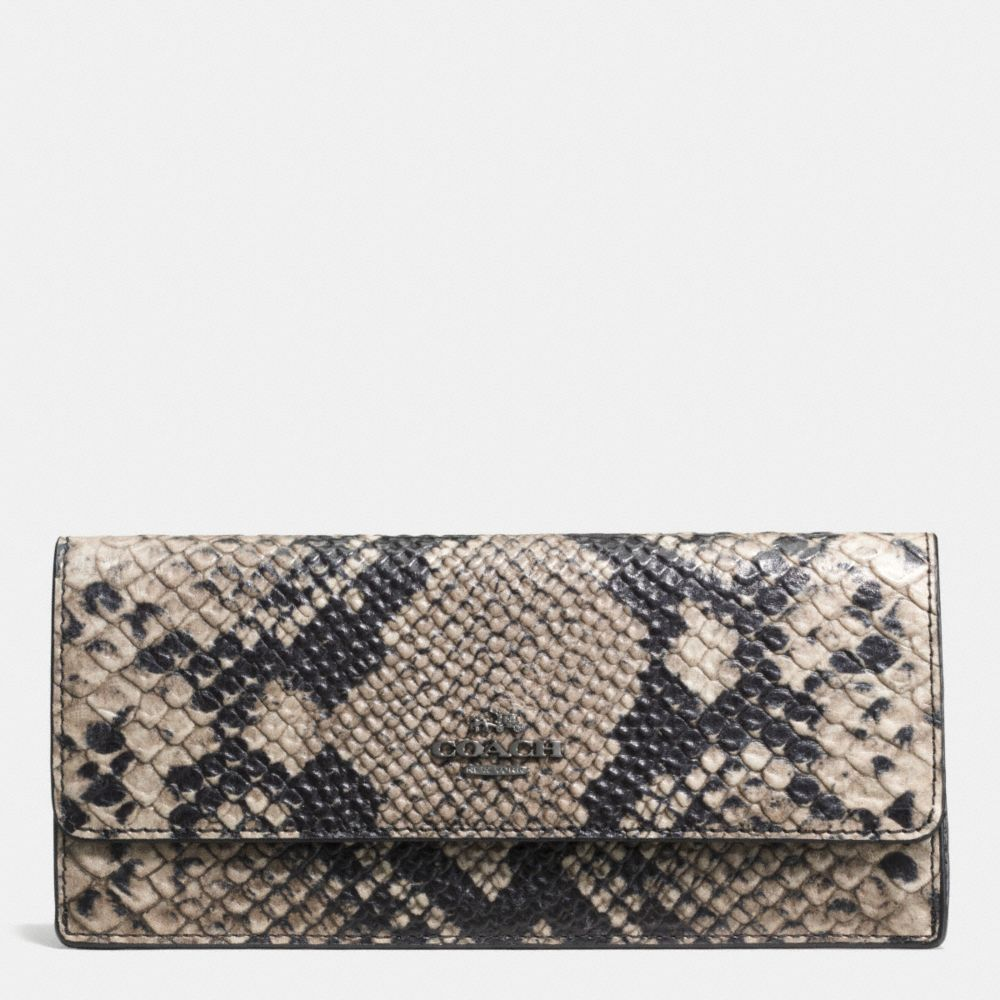 SOFT WALLET IN PYTHON EMBOSSED LEATHER - Alternate View